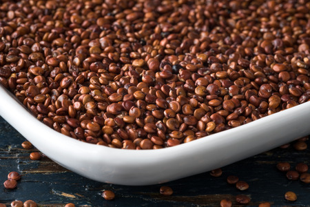 red quinoa: Red Quinoa Stock Photo