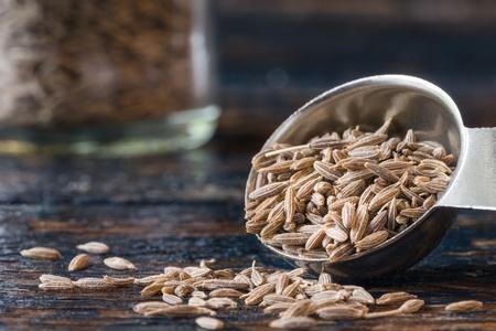A teaspoon of cumin seeds 스톡 콘텐츠