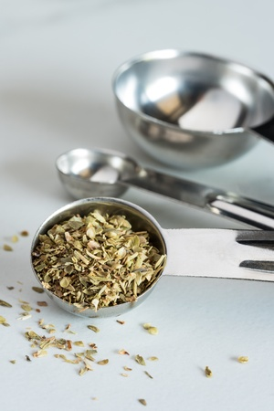 A teaspoon of dried oregano