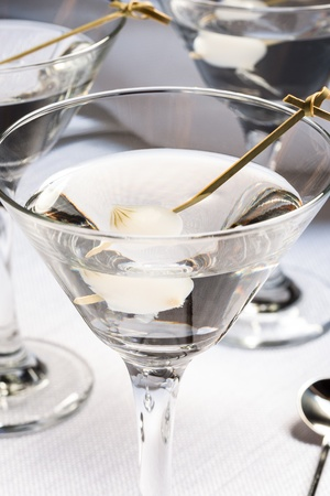 neat martini with pearl onion garnish stock photo picture and
