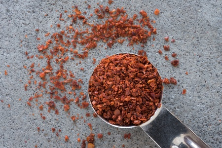 A teaspoon of aleppo peppers