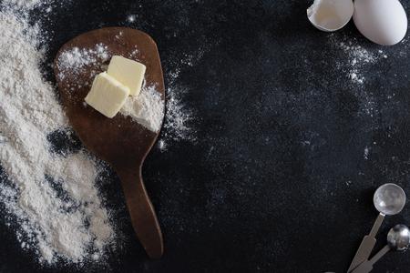 Baking ingredients Banco de Imagens