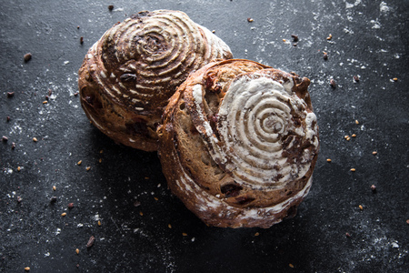 Cranberry pecan bread rolls Banco de Imagens - 92403014