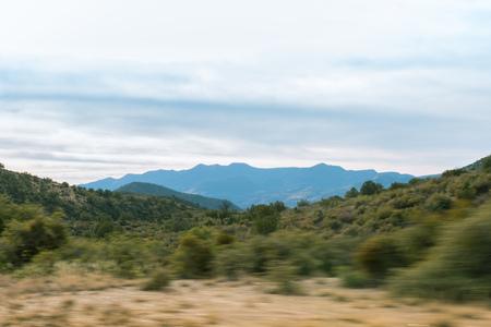 Passing by desert landscape