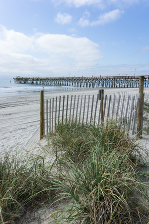 A pier from the beach at Myrtle Beach, South Carolina