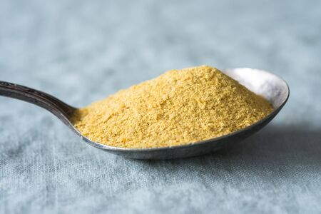 Nutritional Yeast on a Vintage Spoon