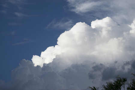 monsoon clouds: Cotton clouds Stock Photo