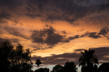 monsoon clouds: Wild monsoon sunset