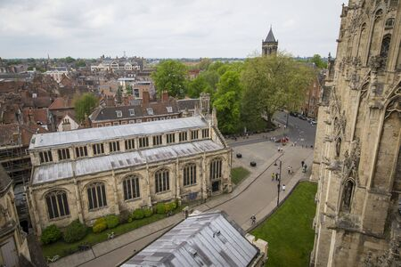 Side view of the historic city center of York from the York Minster Cathedral. Stockfoto