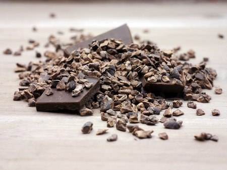 Cacao nibs raw superfood 版權商用圖片