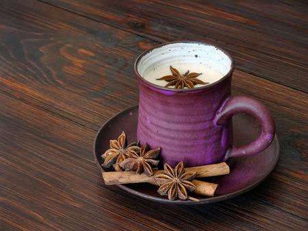 chai: Herbal chai tea with milk