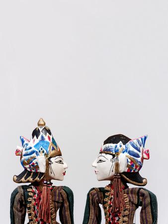 marioneta: Wayang Golek, marionetas tradicionales de Indonesia Foto de archivo