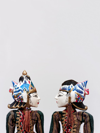 puppet theatre: Wayang Golek, traditional Indonesian puppets Stock Photo