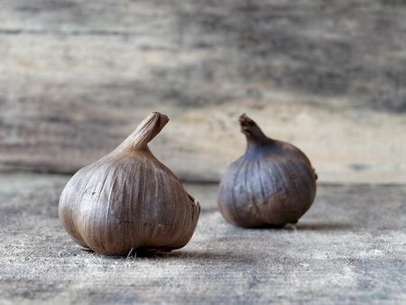 fermented: Fermented black garlic bulbs