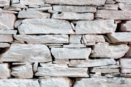 Old flagstone wall photo