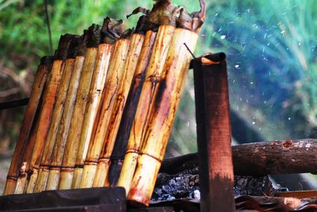 Lemang, Popular Traditional Food Stock Photo - 4888734