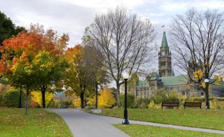 Het Canadese parlement gezien van Major