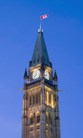 The canadian Parliament Centre Block showing 8 O