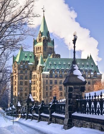 confederation: Il Parlamento canadese edificio Confederazione su Wellington Street a Ottawa.