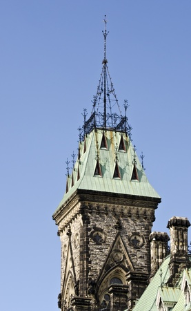 chimney corner: The Canadian Parliament East Block Tower in Ottawa.