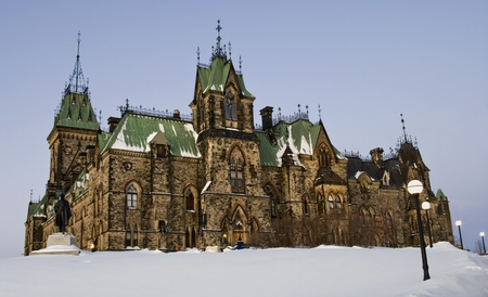 The canadian Parliament East block during the winter season Stock Photo - 13295195