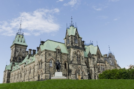 The canadian Parliament East Block viewed from the east side