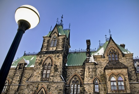 A low view of the canadian Parliament East Block in Ottawa, Canada  Stock Photo - 13300780