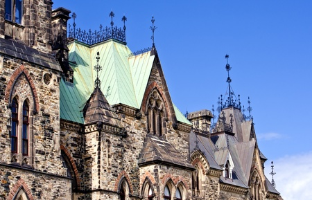 A closeup view of the East Block building gothic  architecture Stock Photo - 13301546