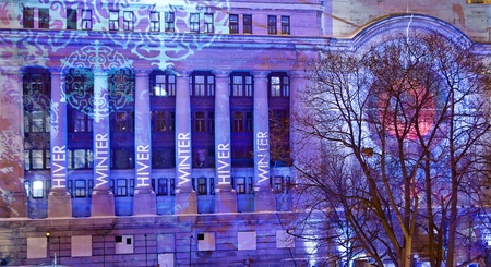 The Government Conference Centre in Ottawa, Canada during the Winterlude festivities