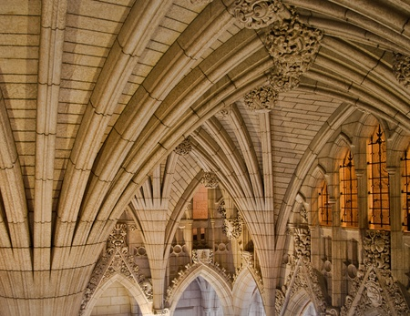 A look at the inside of the canadian Parliament gothic architecture