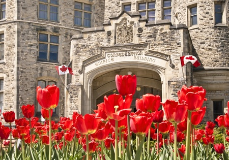 confederation: Il Parlamento canadese Confederazione Sulla Wellington Street a Ottawa Editoriali