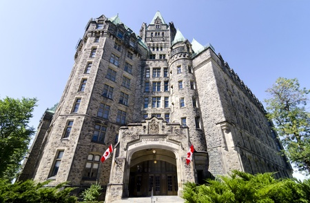 The canadian Parliament Confederation Building on Wellington Street in Ottawa
