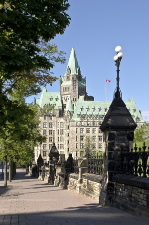 The canadian Parliament Confederation Building in summer