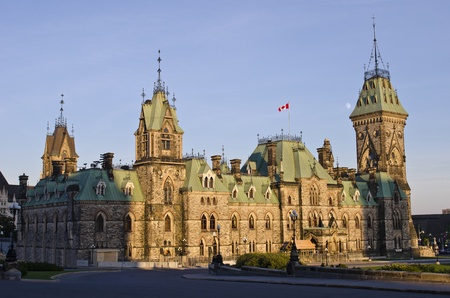 A view of the Canadian Parliament East Block in the afternoon sunshine  photo