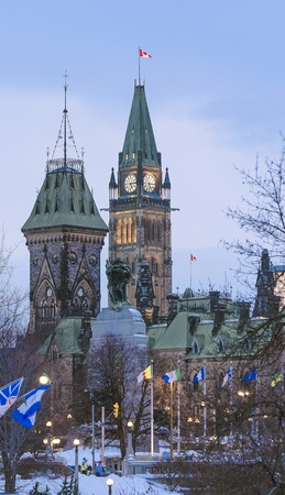 The canadian Parliament Centre and East Blocks in Ottawa, Ontario, Canada Stock Photo - 13300892