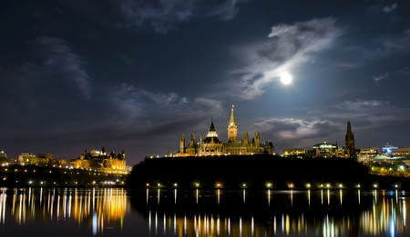 May 5, 2012  Super moon over the canadian Parliament at night