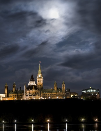 May 5, 2012  Super moon over the canadian Parliament at night  photo