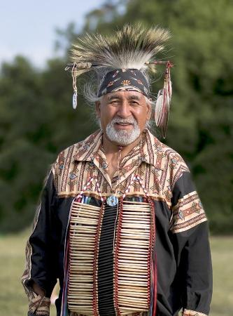 elder tree: OTTAWA, CANADA - JUNE 16  Unidentified elder indian in full dress at the PowWow festival at Dows lake in Ottawa Canada on  June 16, 2007