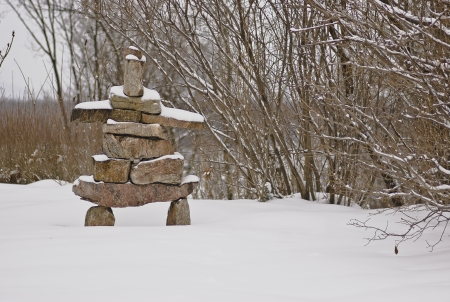 Inukshuk structure at the Governor General s estate