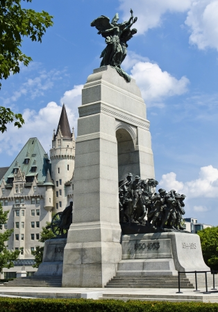 canadian military: The National War Memorial  also known as The Response , is a granite cenotaph with bronze sculptures, that stands in Confederation Square, Ottawa, Canada and serves as the federal war memorial for Canada