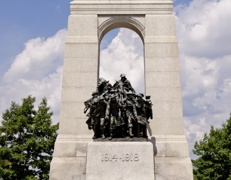 The National War Memorial stands in Confederation Square, Ottawa, Canada and serves as the federal war memorial for Canada  Editorial