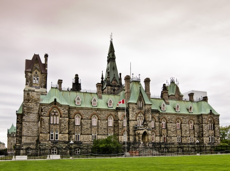 commons: The Canadian Parliament West Block building in Ottawa Canada.