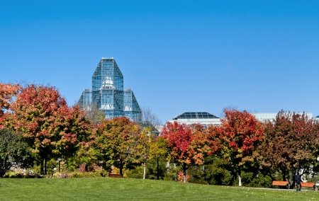 The National Gallery of Canada standing proud in Ottawa during the  spectacular autumn display.