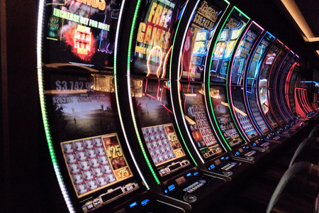 Slot machines, Las Vegas, Nevada 版權商用圖片 - 115022286