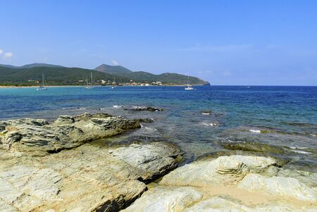 Cape Corsica, Barcaggio beach Banque d'images