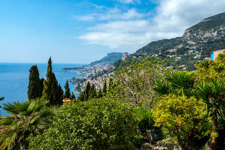 Panorama of the Côte-d'Azur from the old village of Roquebrune-Cap-Martin Banque d'images