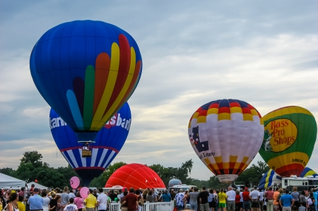 Annual Hot Air Balloon Race, St Louis MO Banco de Imagens - 24410961