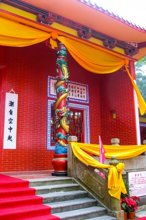 Traditional Chinese Pagodas in scenic location Editorial