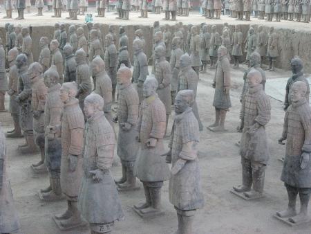 Terracotta Army of Qin Shi Huang, First Emperor of China. Redakční