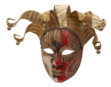 papier mache: italiano tradicional enmascarar las tres cuartas partes de Venecia  Foto de archivo